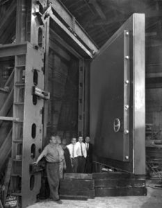 A large vault door from the 1920s