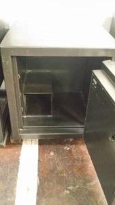 Black Amsec TL 15 Used Black Safe Dial Lock Open Door Dimensions Exterior H32 x W31 x D29 Interior H25 x W24 x D19