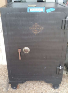 Antique Diebold Bankers Safe with Dial Lock and Shelving Closed Door Dimensions Exterior H42 x W33.5 x D30 Interior H34 x W24 x D20