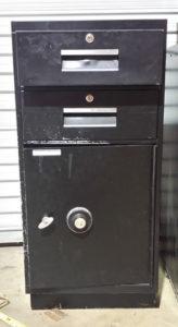 Black Fire File Cabinet with Bottom Safe