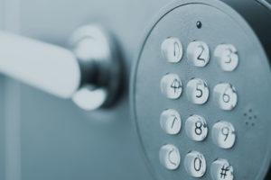 Electronic Safe Keypad Close Up