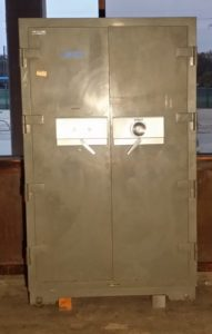 Diebold Double Door Custom Safe Fire Rating : SMNA Class A (4 Hours in a fire up to 2000°F) Dial Lock Closed Door Dimensions Exterior H72'' x W46'' x D30'' Interior H60'' x W36'' x D16.5''