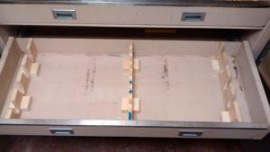 Double Door Custom Safe Black Opened Doors Exterior Dimensions 52''H x 58''W x 24''D Internal Dimensions 50''H x 52''W x 20''D Drawer Dimensions 6''H x 49''W x 19''D