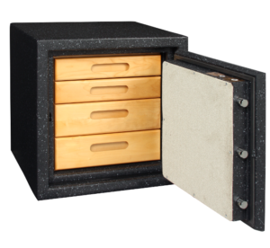 Jewelry safe with pull out drawers