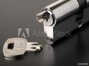 broken key inside lock